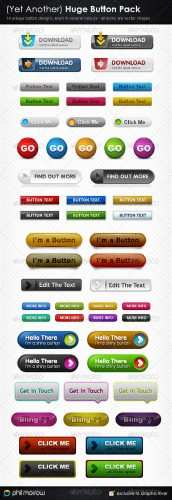 Yet Another Huge Button Pack - GraphicRiver