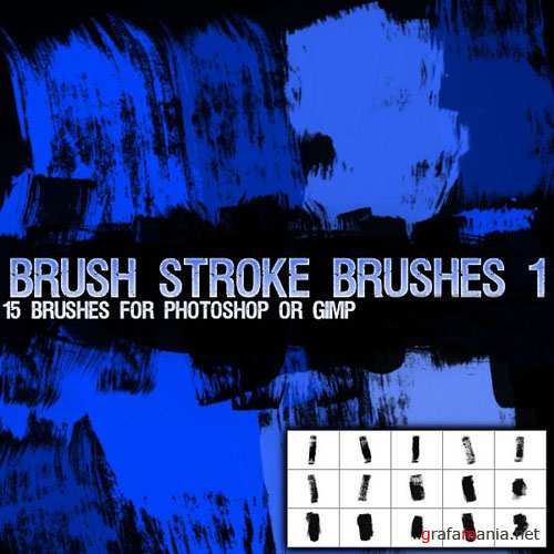 Strokes Brush Pack for Photoshop or Gimp (Part 1)