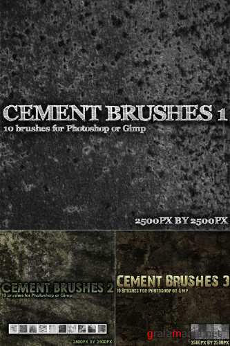 Cement Brushes Pack for Photoshop or Gimp