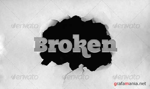 Broken paper (hole in a paper) � GraphicRiver