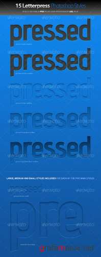 Letterpress Photoshop Styles – GraphicRiver