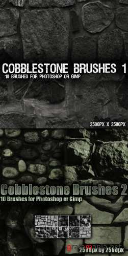Cobblestone Brushes Pack for Photoshop or Gimp
