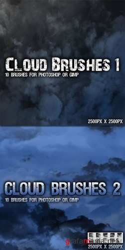 Clouds Brushes Pack for Photoshop or Gimp