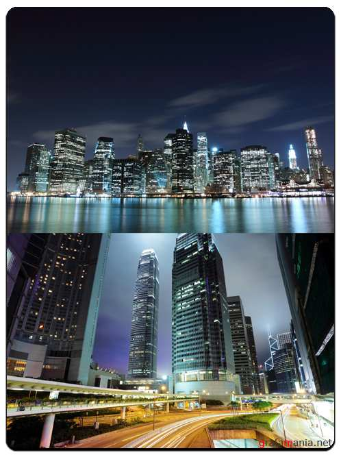 Lights of the Night City - Stock Images