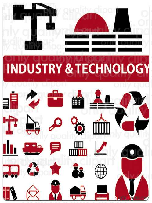 Industry and Technology -  Collection of Vector Icons