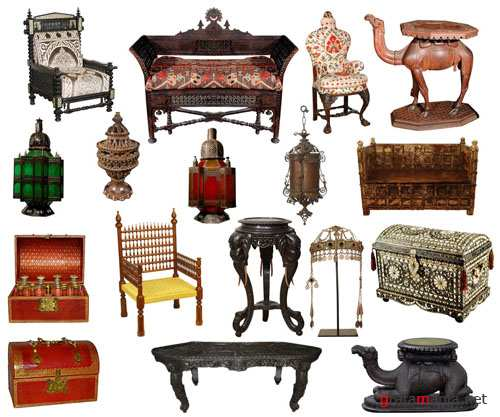PSD Clipart - Moroccan Furniture Set