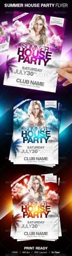 GraphicRiver � Summer House Party Flyer