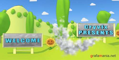 VideoHive - After Effects Project - Cartoon Park 3D Animation