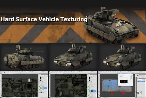 Hard Surface Vehicle Texturing using 3Ds max, Mudbox, Photoshop [2011, ENG]