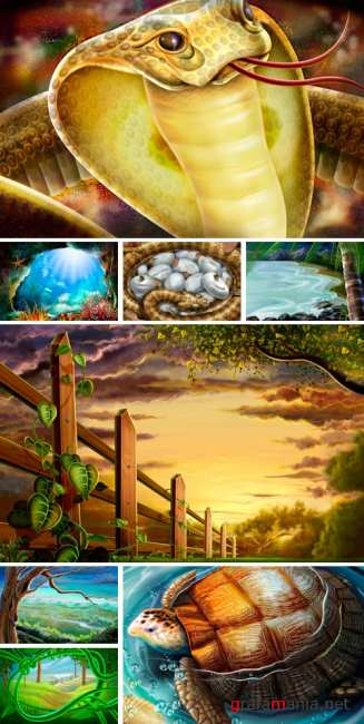 PSD Illustrations - nature 6