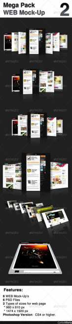 Mega Pack WEB Mock-Up 2  - GraphicRiver