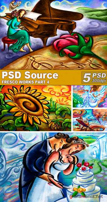 PSD Illustrations - Fresco works 4