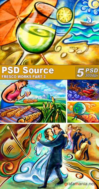 PSD Illustrations - Fresco works 3