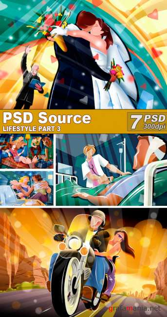 PSD Illustrations - Lifestyle 3