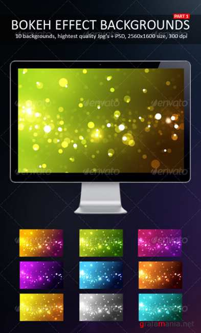 Bokeh Effect Backgrounds Part 1 - GraphicRiver