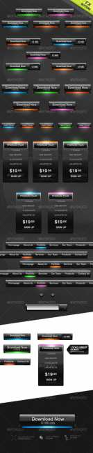 Futuristic Web Buttons and Price Boxes 2 - GraphicRiver