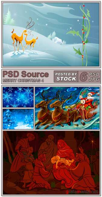 PSD Source - Merry Christmas 4
