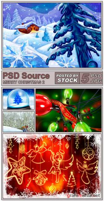 PSD Source - Merry Christmas 2