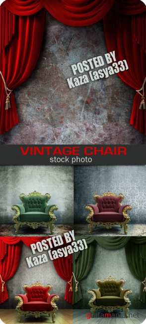 Vintage chair & curtain