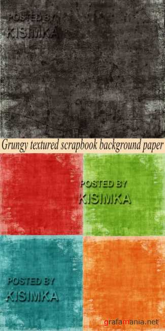 Stock Photo: Grungy textured scrapbook background paper