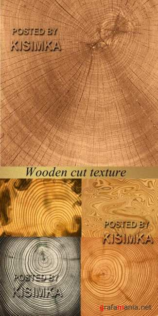 Stock Photo: Wooden cut texture