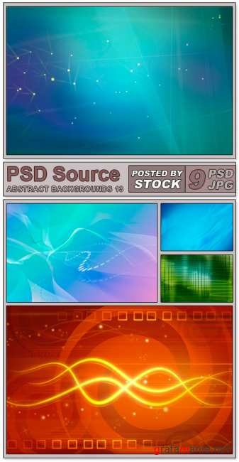 Layered PSD Files - Abstract backgrounds 13