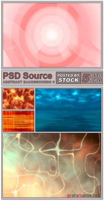 Layered PSD Files - Abstract backgrounds 6