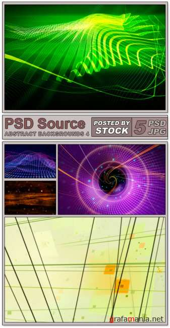 Layered PSD Files - Abstract backgrounds 4