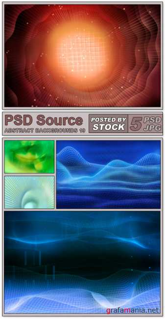 Layered PSD Files - Abstract backgrounds 19