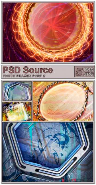 Layered PSD Files - Photo frames 2