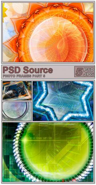 Layered PSD Files - Photo frames 5
