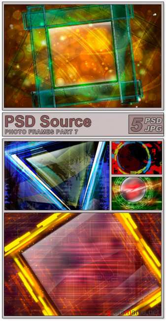Layered PSD Files - Photo frames 7