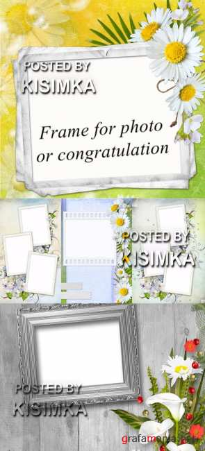 Stock Photo: Frame for photo or congratulation