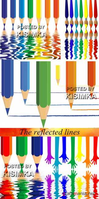 Stock Photo: The reflected lines