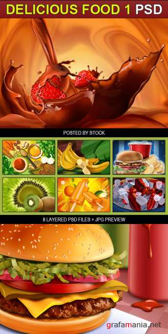 PSD Source - Delicious food 1