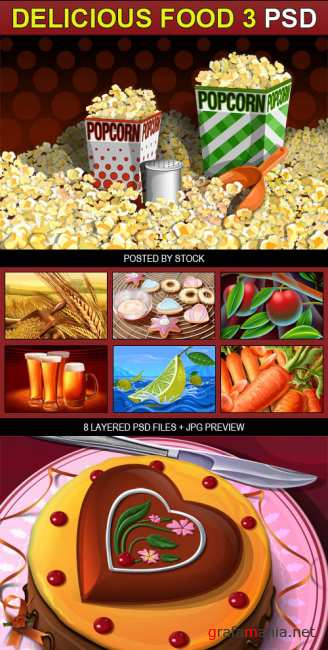 PSD Source - Delicious food 3