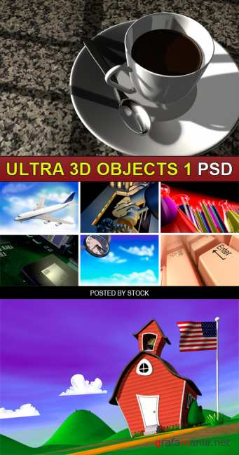 PSD Source - Ultra 3d objects 1