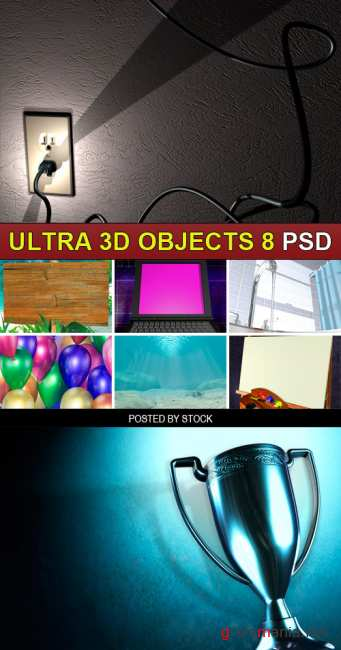 PSD Source - Ultra 3d objects 8