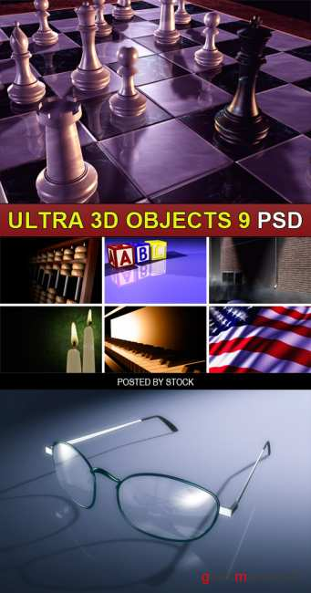 PSD Source - Ultra 3d objects 9