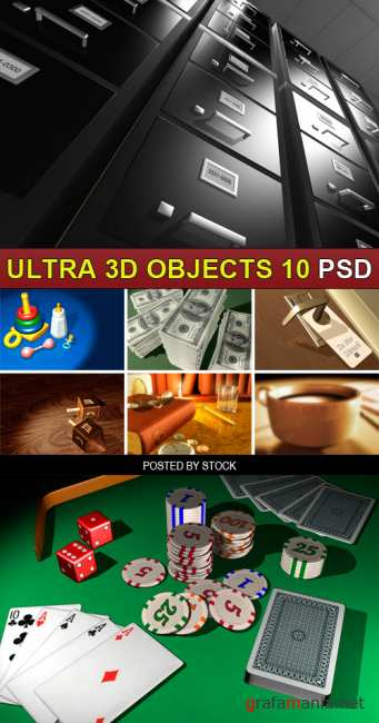 PSD Source - Ultra 3d objects 10