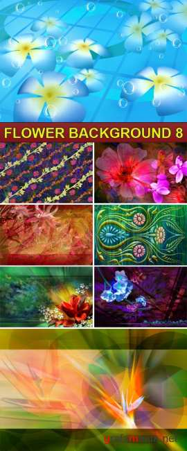 PSD Source - Flower background 8