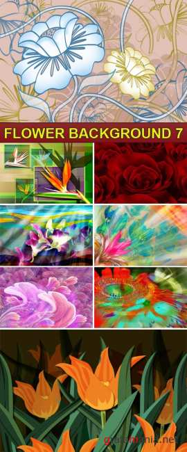 PSD Source - Flower background 7