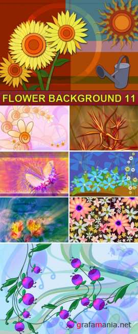 PSD Source - Flower background 11