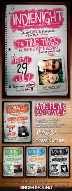 Indie Flyer or Poster Vol. 6 - Graphic River