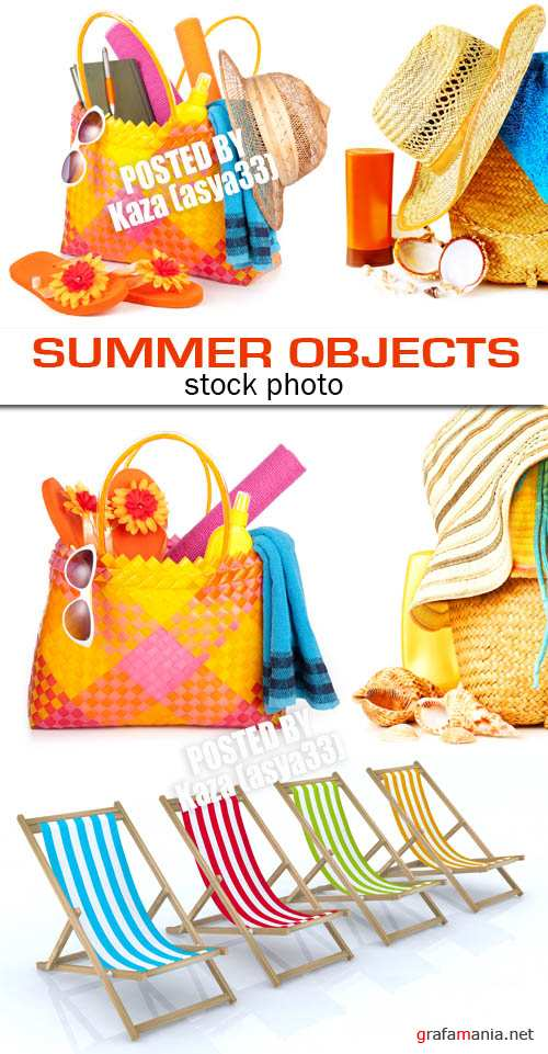 Summer beach objects