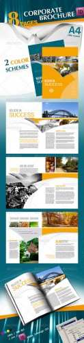 Corporate A4 Brochure in 2 Schemes of Color - GraphicRiver
