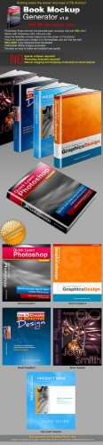 Book Mockup Generator v1.0 Actions & Templates Set - GraphicRiver