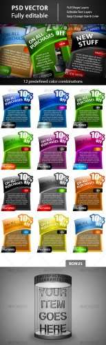 GraphicRiver - Web Elements – Colorful Banners