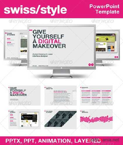 Swiss Style PowerPoint Template � GraphicRiver