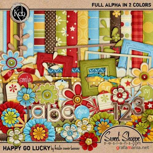 Scrap kit - Happy Go Lucky